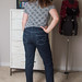 Rear view of Ginger Jeans