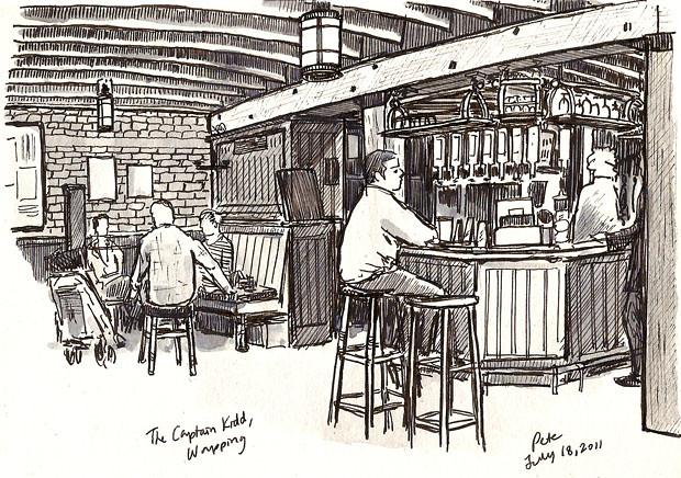 captain kidd pub, wapping
