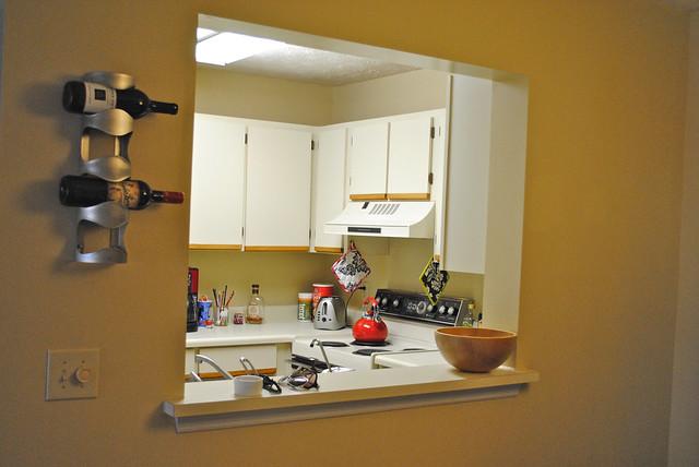 Kitchen Pass-Through with Wine Rack