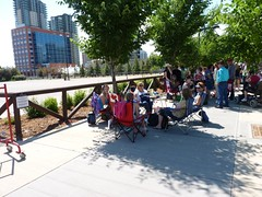 Will and Kate at Calgary Stampede - pix 01 - Beginning of the line