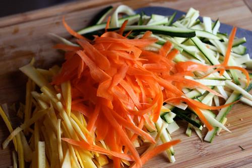 Veggies for Vegan, Gluten-free Fettucini Alfredo