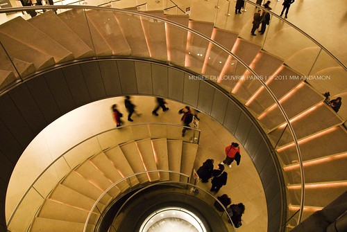 Spiral staircase, Musée du Louvre