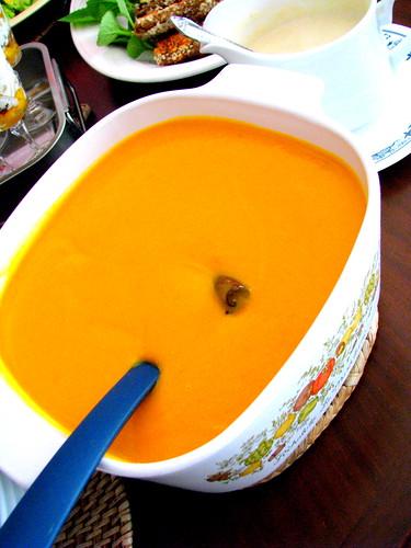 Cream of calabasa soup