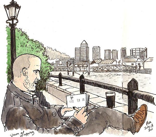 simon sketching at wapping