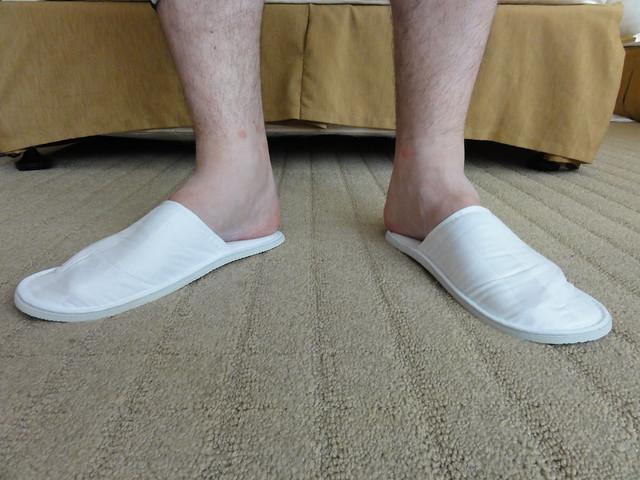 Woohoo, free slippers