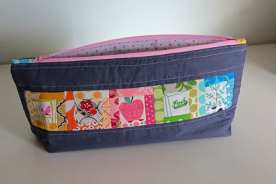 Pretty little pouch swap finished - front