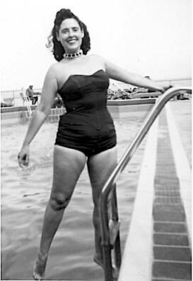 1950s Model at Pool