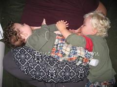 Holding Hands Tandem Breastfeeding