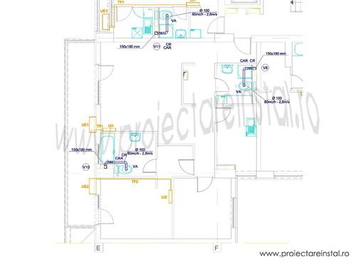 plan instalatii de ventilare