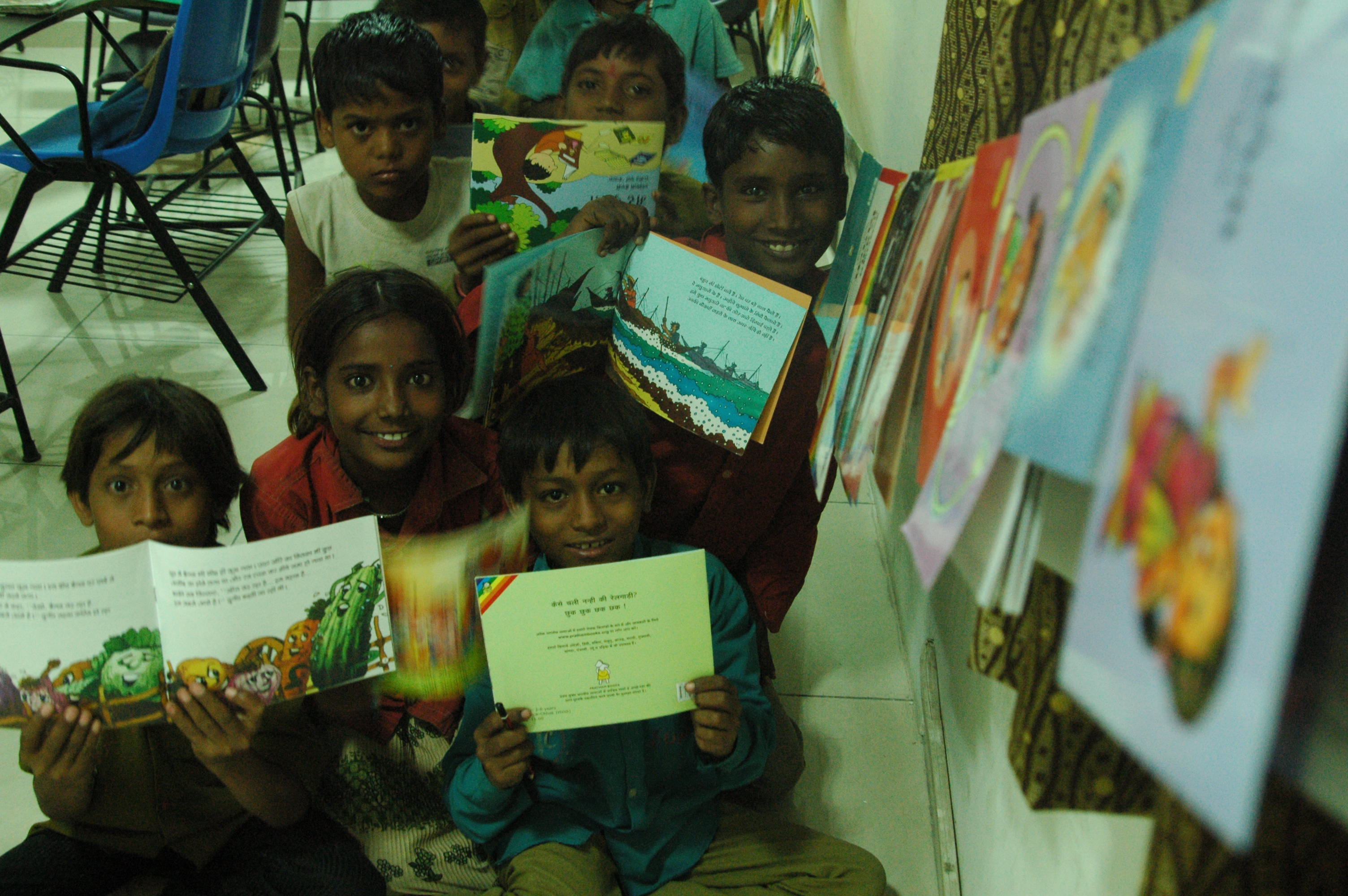 Delighted to have story books, SEE, IWSB, Greater Noida, UP, India