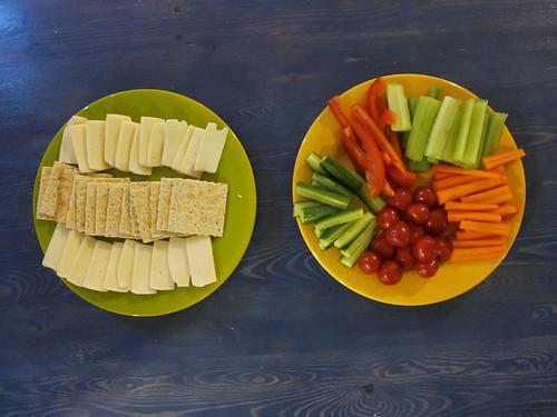 Crackers, Cheese & Veggies