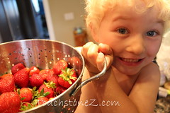 Take a picture of my strawberries, mom