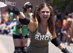 Roller Girl yelling