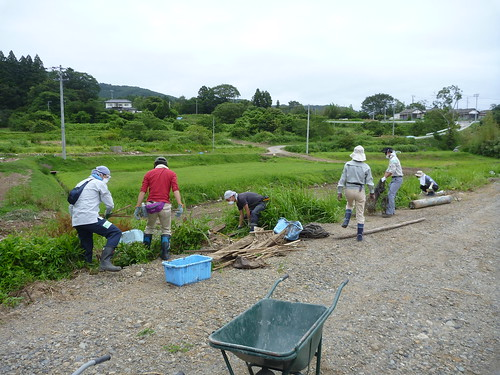 瓦礫撤去ボランティア(陸前高田市小友町) Japan Quake Reconstruction Volunteer at Rikuzentakata, Iwate pref.
