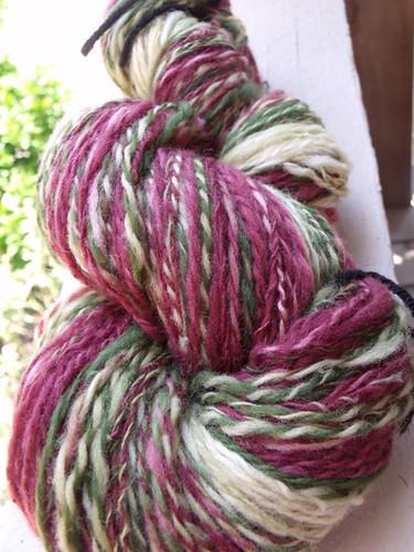 Hummingbird Handspun from Cosymakes Farm Wool Club