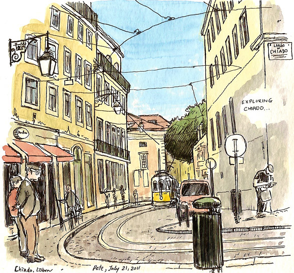 exploring chiado sketch