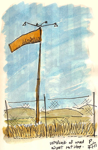 windsock at weed airport