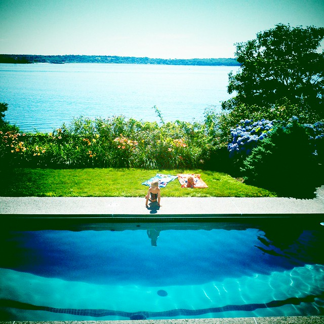 Swimming pool and Naragansett Bay