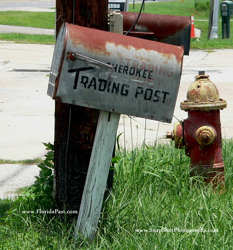cherokee trading post mailbox with Ghost Writtings of FloridaPast days by SnapShotPhotographs.com