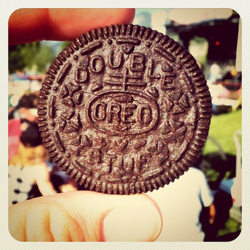 Summer concert and Oreo = perfect by pinksuedeshoe