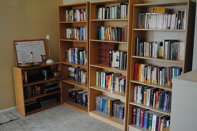 Bookshelves.