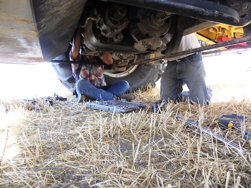 Working under combine