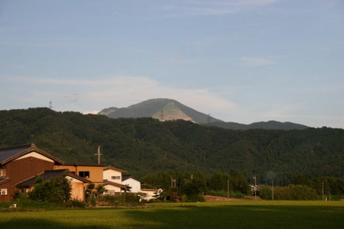 Stripped mountain