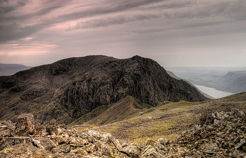 Mickledore and Scafell from Scafell Pike