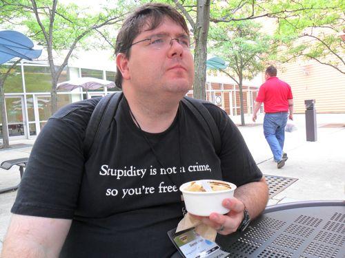 Darren eats Jeni's