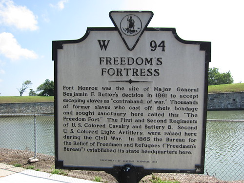 Fort Monroe emancipates slaves as contraband of war