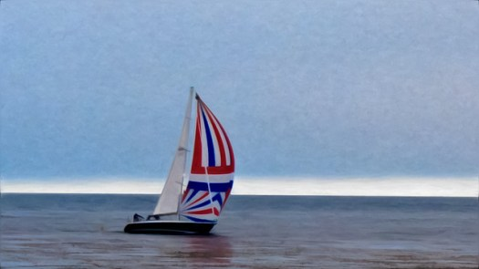 PixelBender Version - Sailboat On Monterey Bay