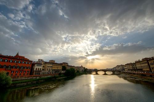 Sunset from Ponte Santa Trinità