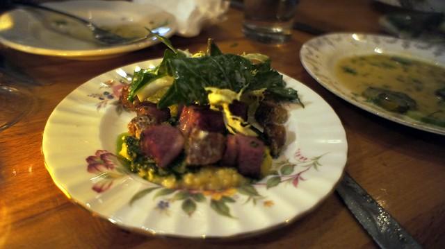 green eggs and lamb at torrisi