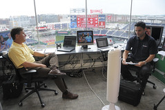 Bob and F.P. in the MASN Broadcast Booth