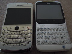 BlackBerry Bold 9780 & HTC ChaCha