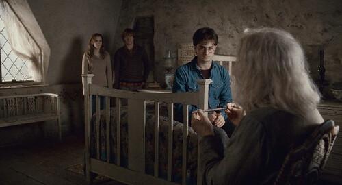 Hermione, Ron, Harry and Ollivander