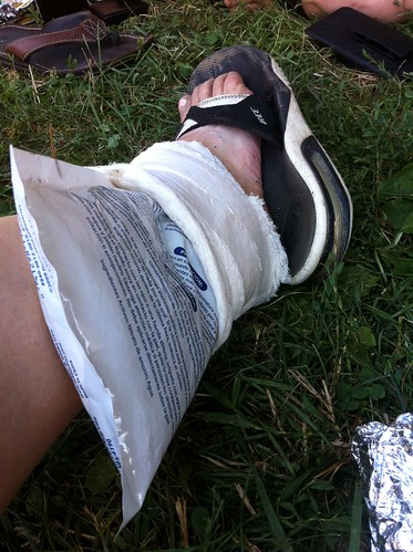 Post Race Ankle Icing