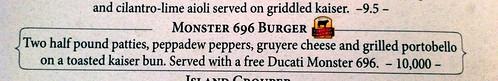 Monster 696 Burger