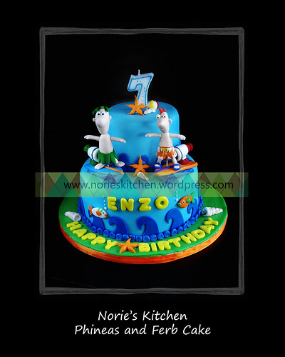 Norie's Kitchen - Phineas and Ferb Cake by Norie's Kitchen, on Flickr