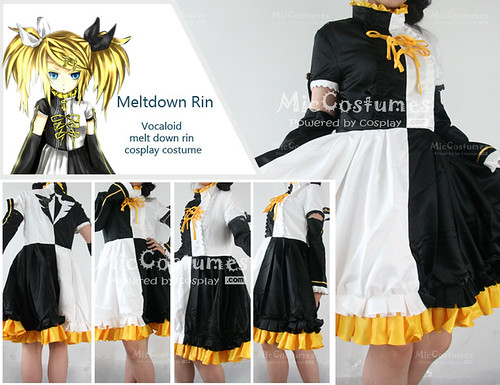 Vocaloid melt down rin cosplay costume