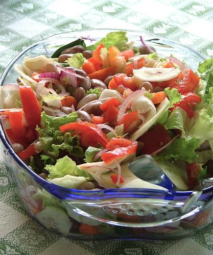 insalata di fagioli borlotti - Borlotti bean salad