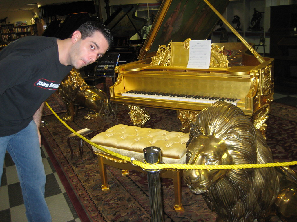 awesome gold piano