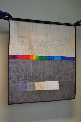 Back of city reflection quilt