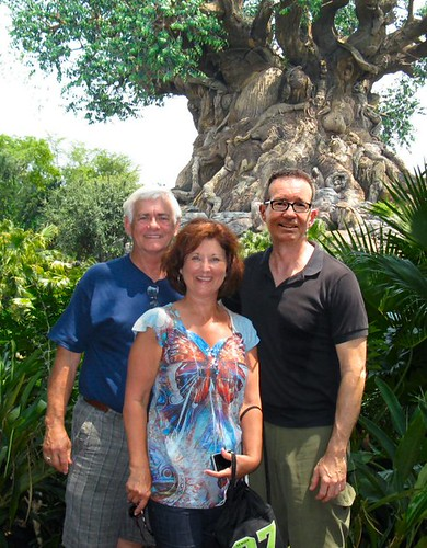 In front of the Tree of Life
