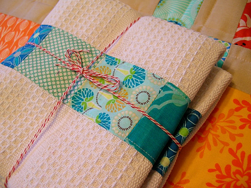 Towels and kitchen mat