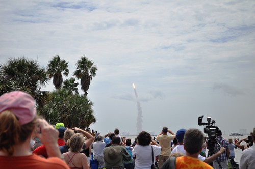 Launch of Space Shuttle Atlantis, Viewed from Titusville, Fla., July 8, 2011