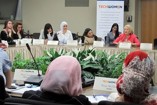 TechWomen and Melanne Verveer at US State