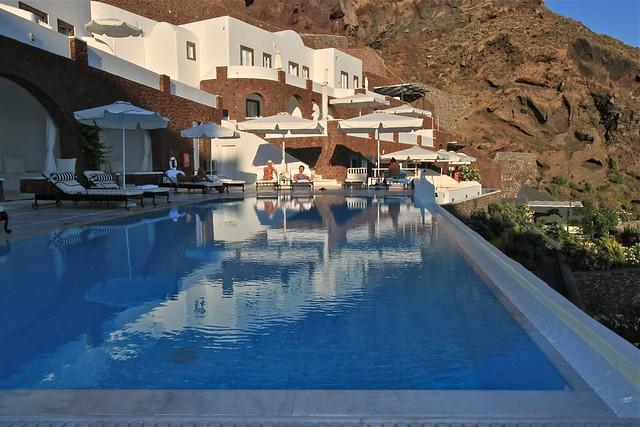 Aire de piscine, Santorin, Grèce