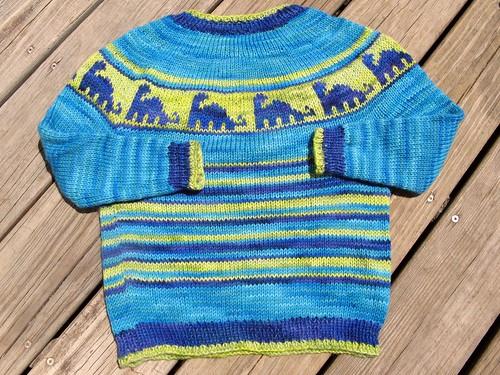 2447 dino sweater