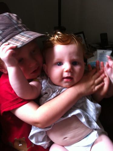 Snuggles with Siblings